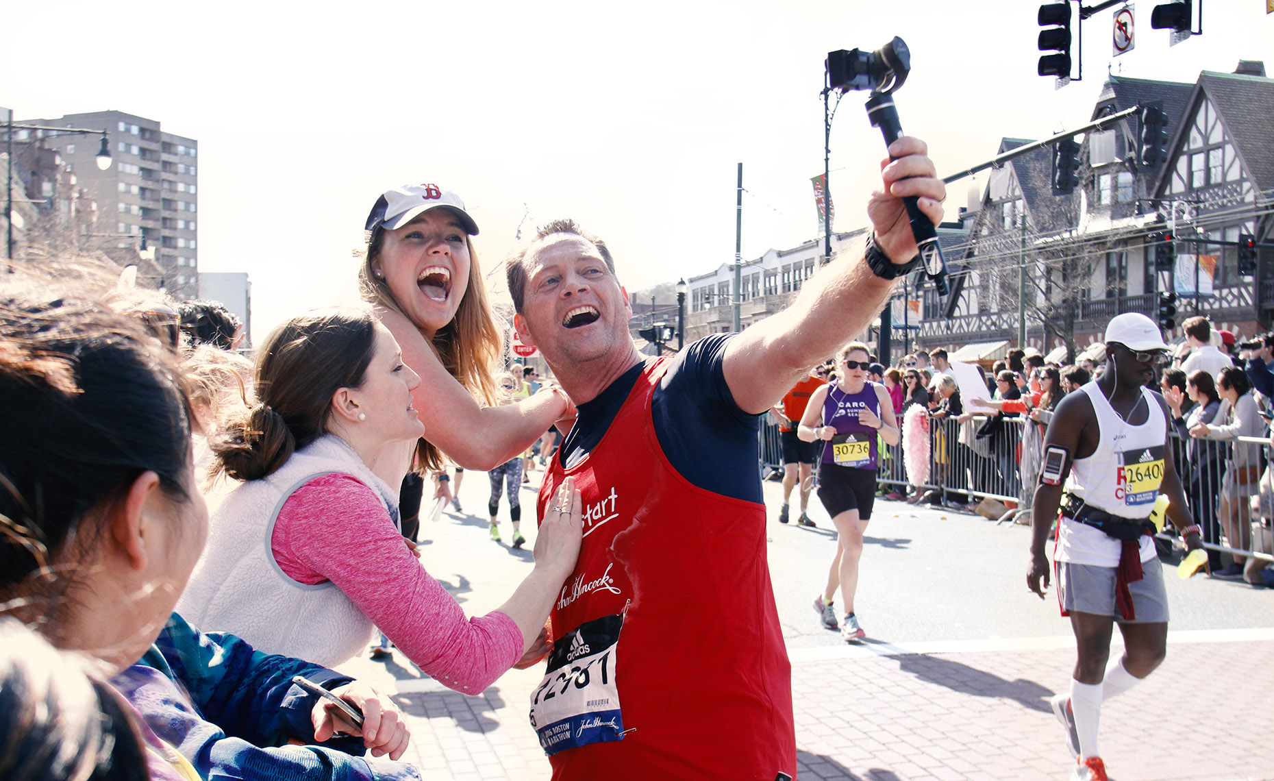 Marathon Selfie with Joyous Fan
