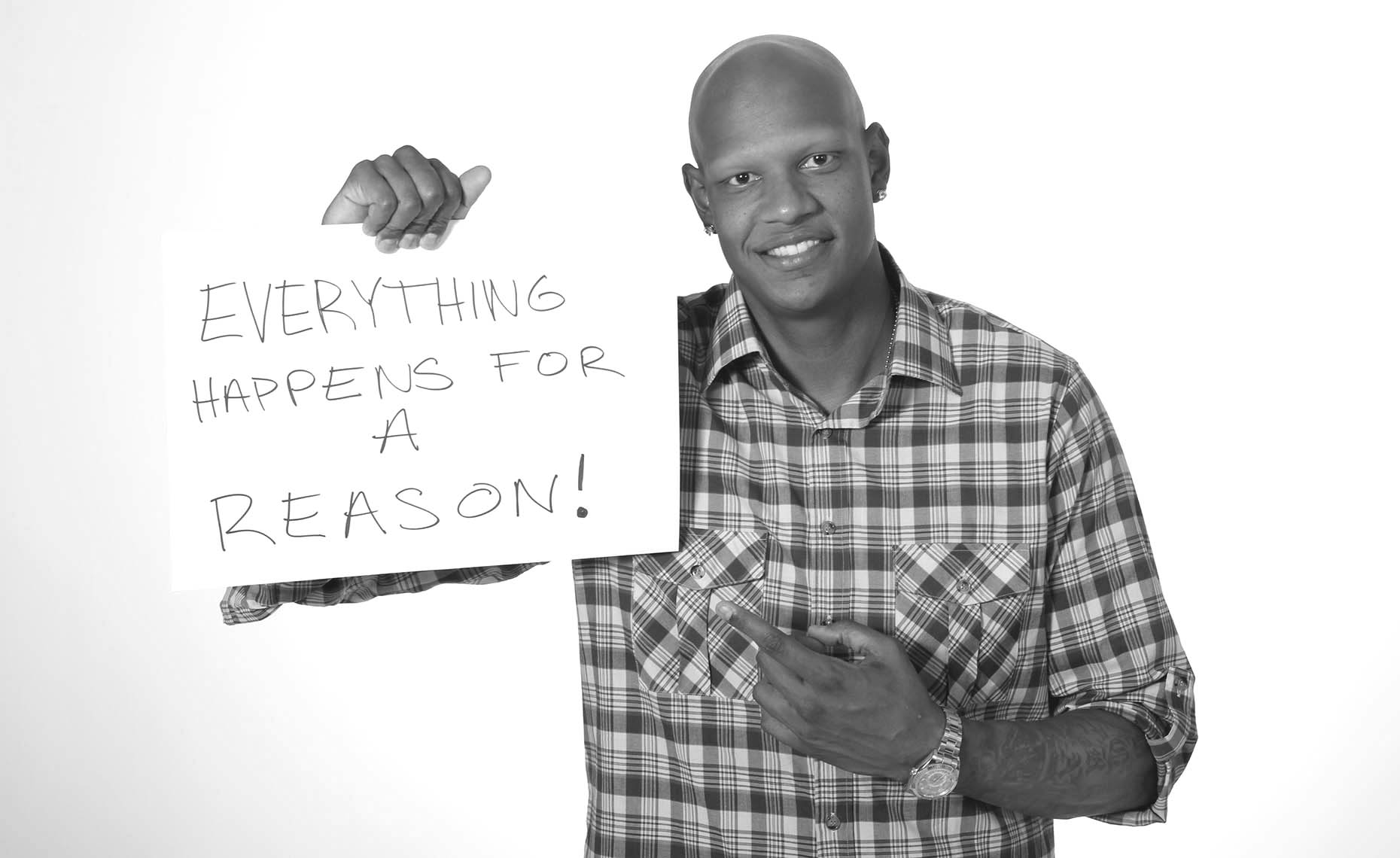 B&W Portrait of NBA Star Charlie Villanueva