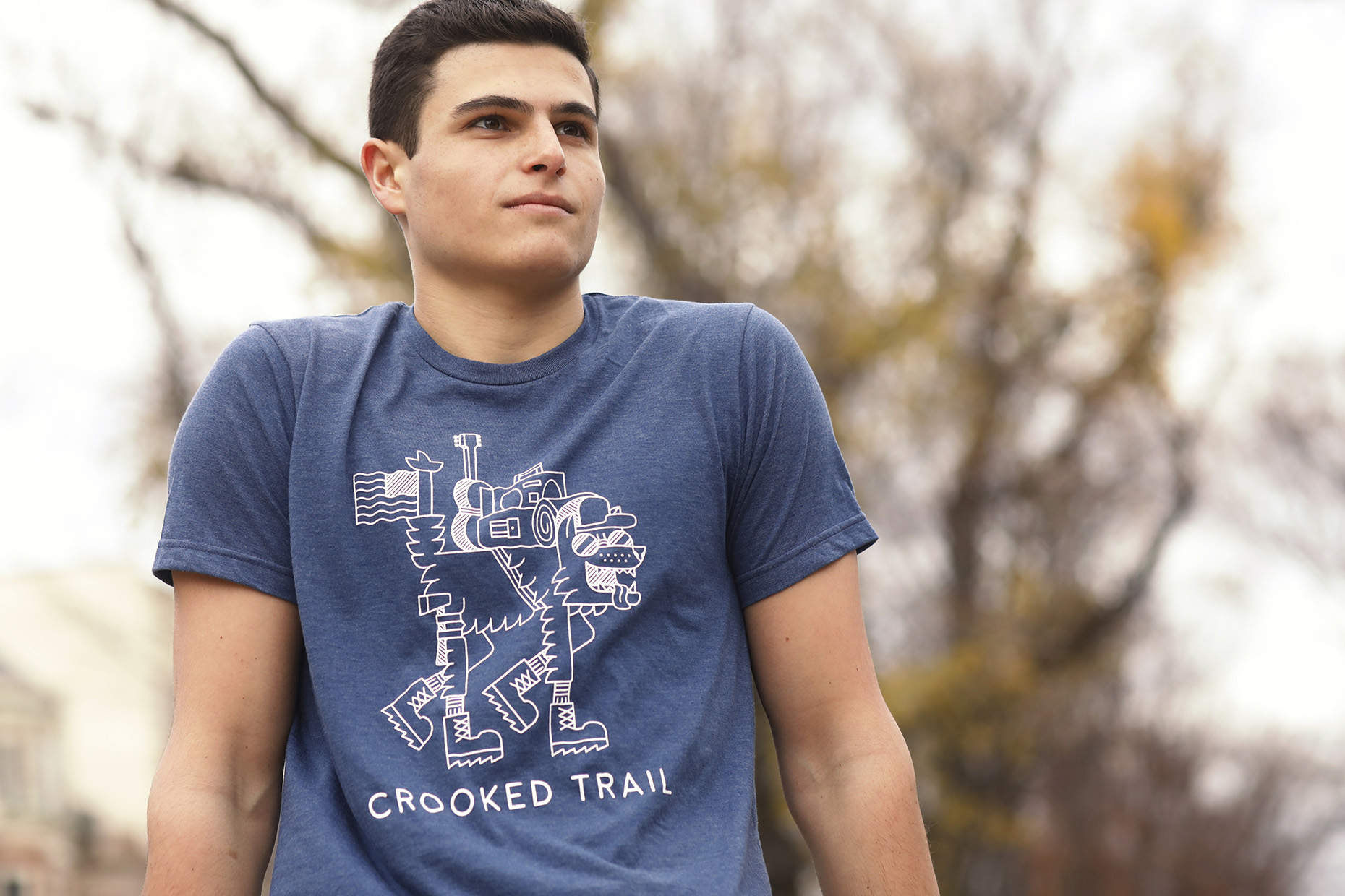 Male Model in Crooked Trail Apparel.